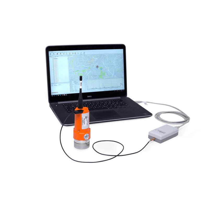 Noise logger for the stationary monitoring of water pipe networks
